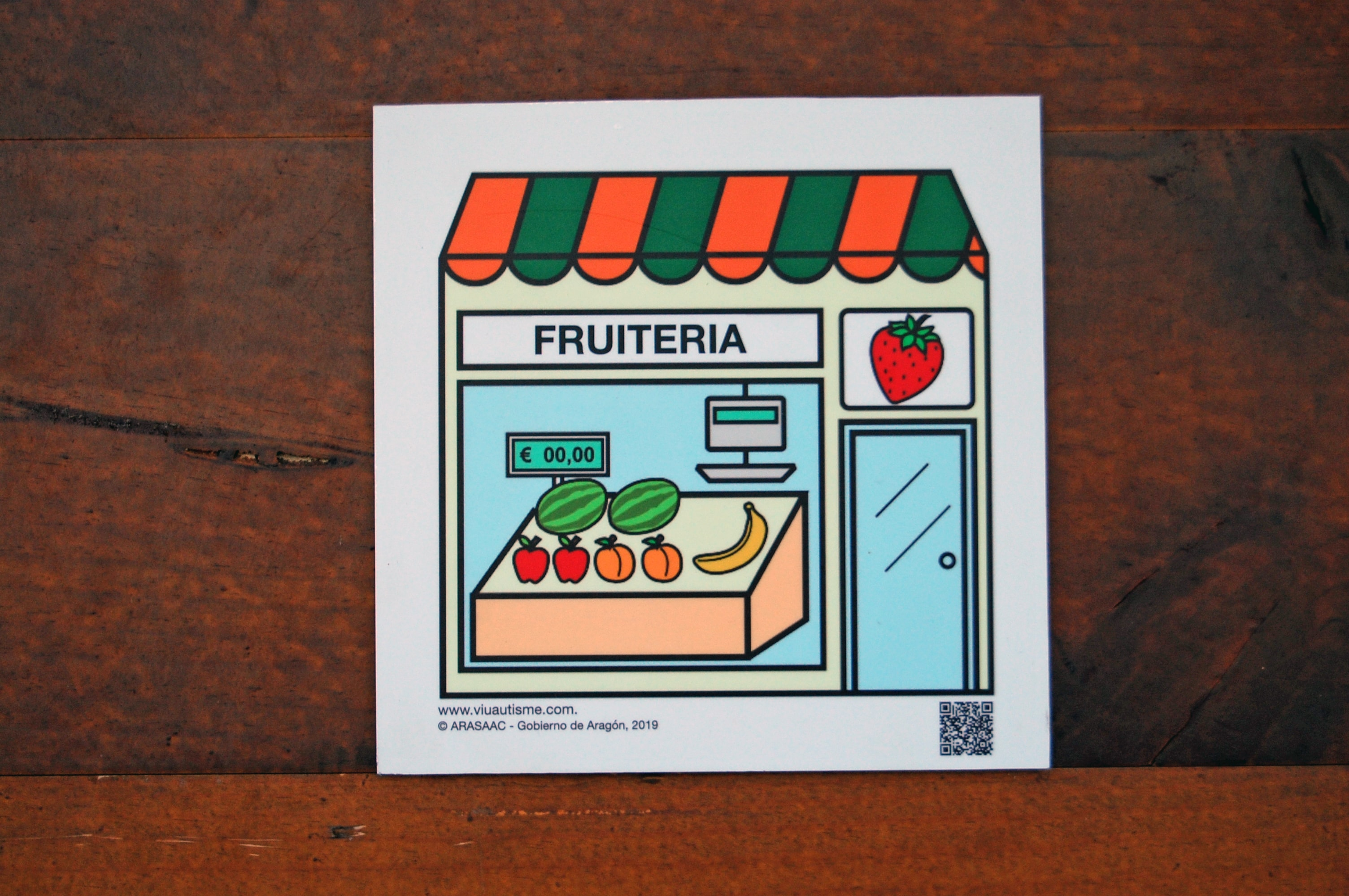 Image representing pictogram of a fruit shop